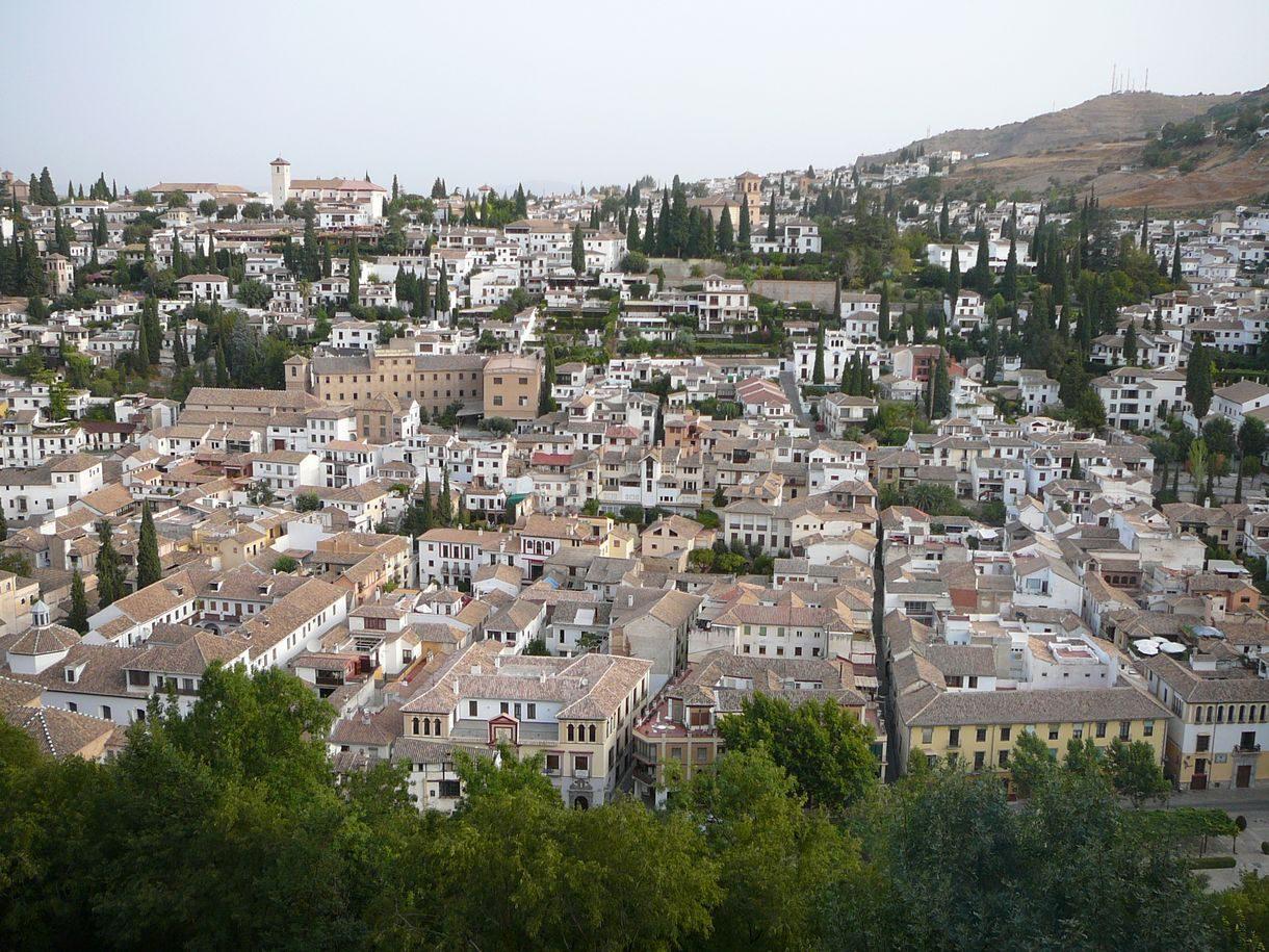 Granada - Alhambra - Nasriden-Palaeste - Blick auf Albaicin